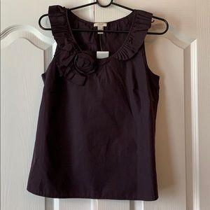 NWT sleeveless size 4 plum J Crew blouse
